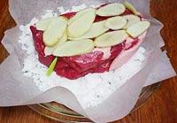 豚肉塩釜焼き