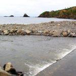 鮭が遡上する「谷根川」