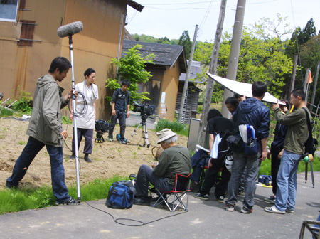 寺島しのぶさん 高柳での撮影風景