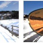 好天時の雪道の運転に、安全のためにもサングラスは必需品