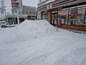 大雪の様子