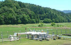 田んぼの中の油田