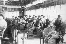 当時珍しかった女子の機械工