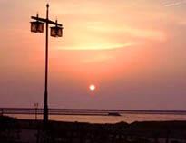 中央海岸での夕日